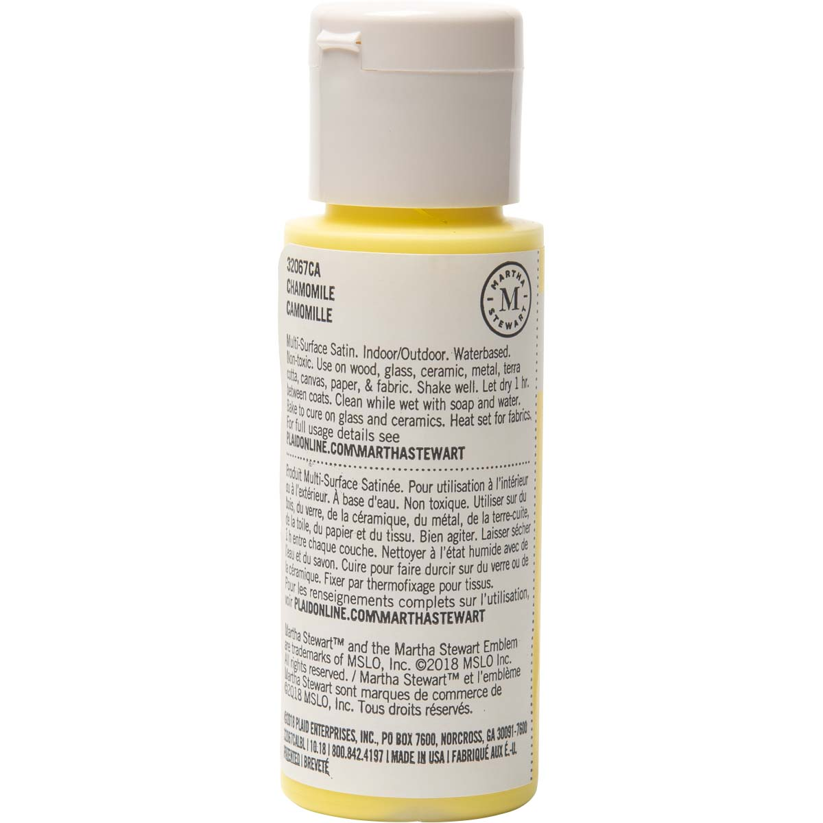 Martha Stewart ® Multi-Surface Satin Acrylic Craft Paint - Chamomile, 2 oz. - 32067CA