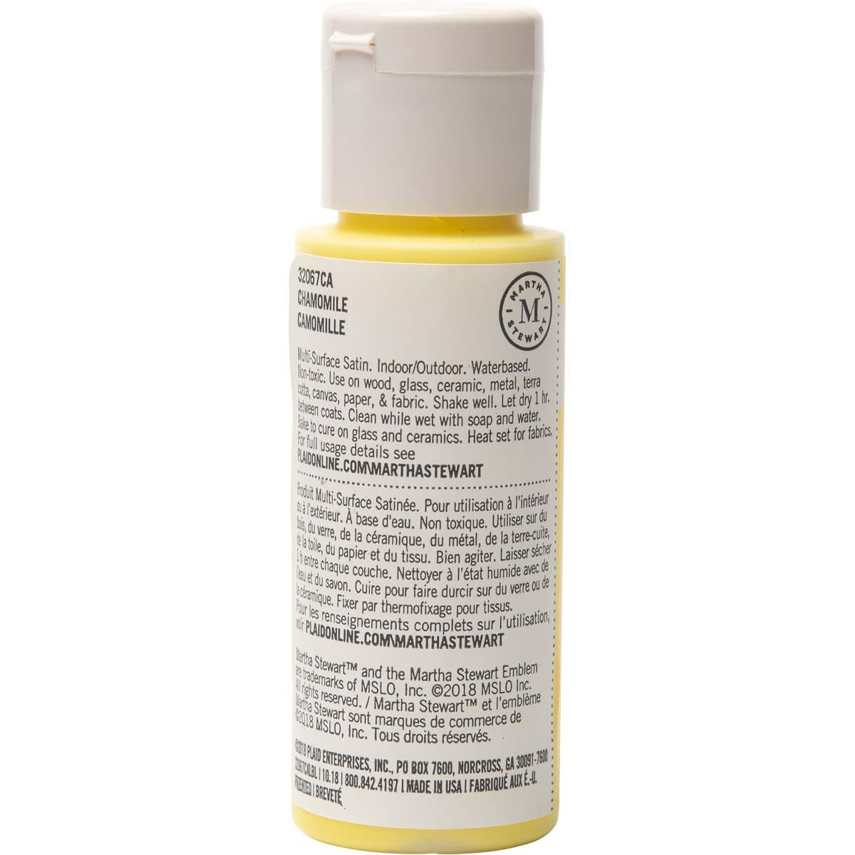 Martha Stewart® 2oz Multi-Surface Satin Acrylic Craft Paint - Chamomile