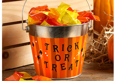 Trick or Treat Tin with FolkArt Multi-Surface Paint