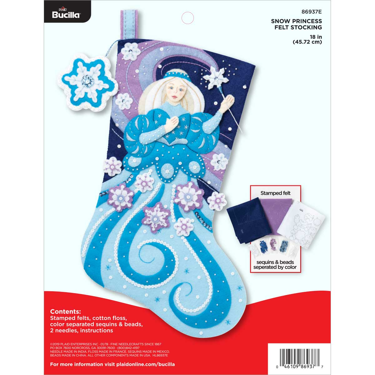 Bucilla ® Seasonal - Felt - Stocking Kits - Snow Princess