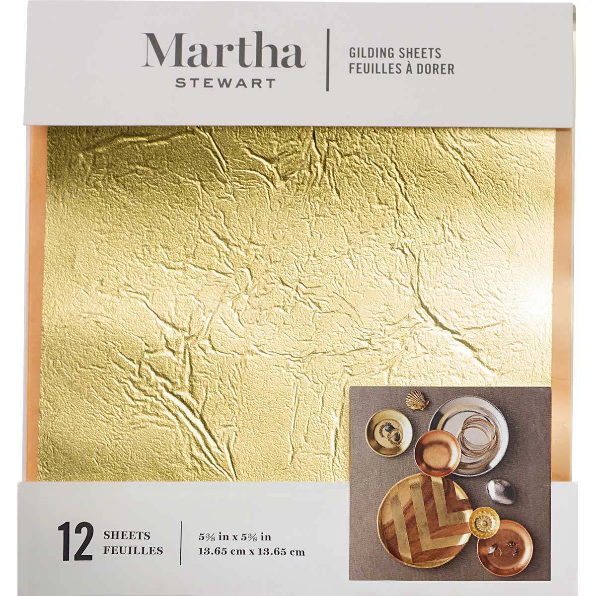 Martha Stewart ® Gilding Sheets - Gold, 12 pc. - 33317