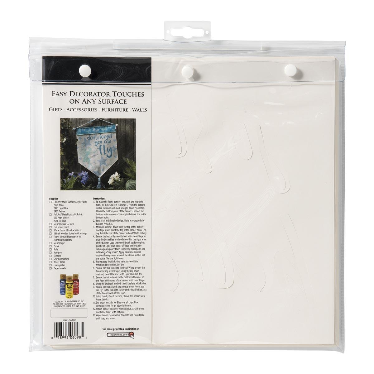 FolkArt ® Stencil Value Packs - Fantasy, 12