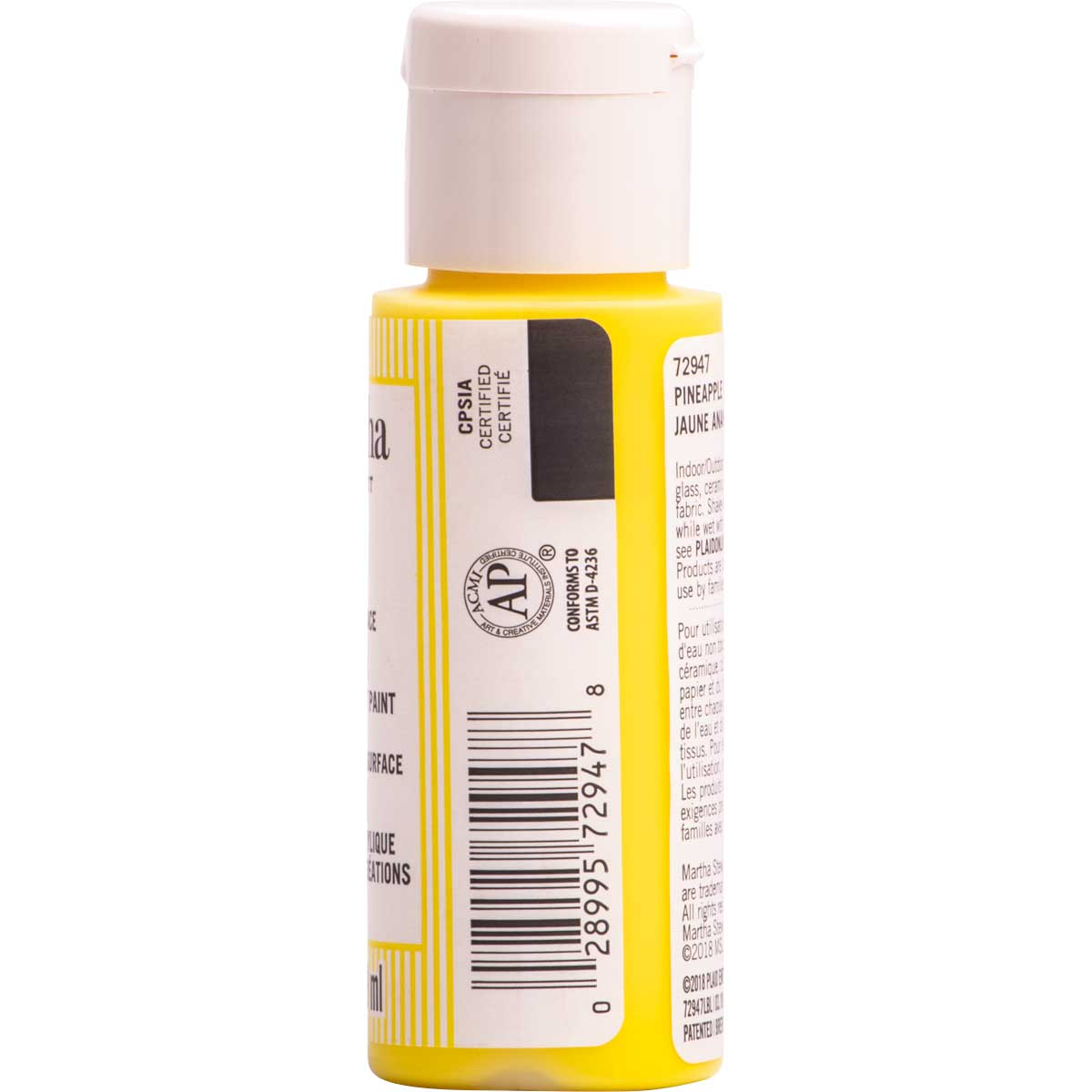 Martha Stewart® 2oz Multi-Surface Neon Acrylic Craft Paint - Pineapple Yellow