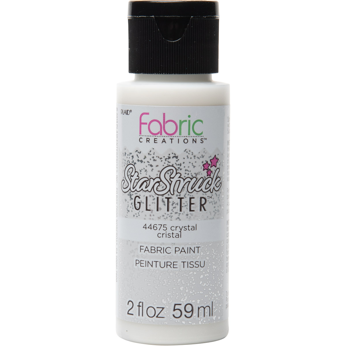 Fabric Creations™ StarStruck Glitter™ Fabric Paint - Crystal, 2 oz. - 44675