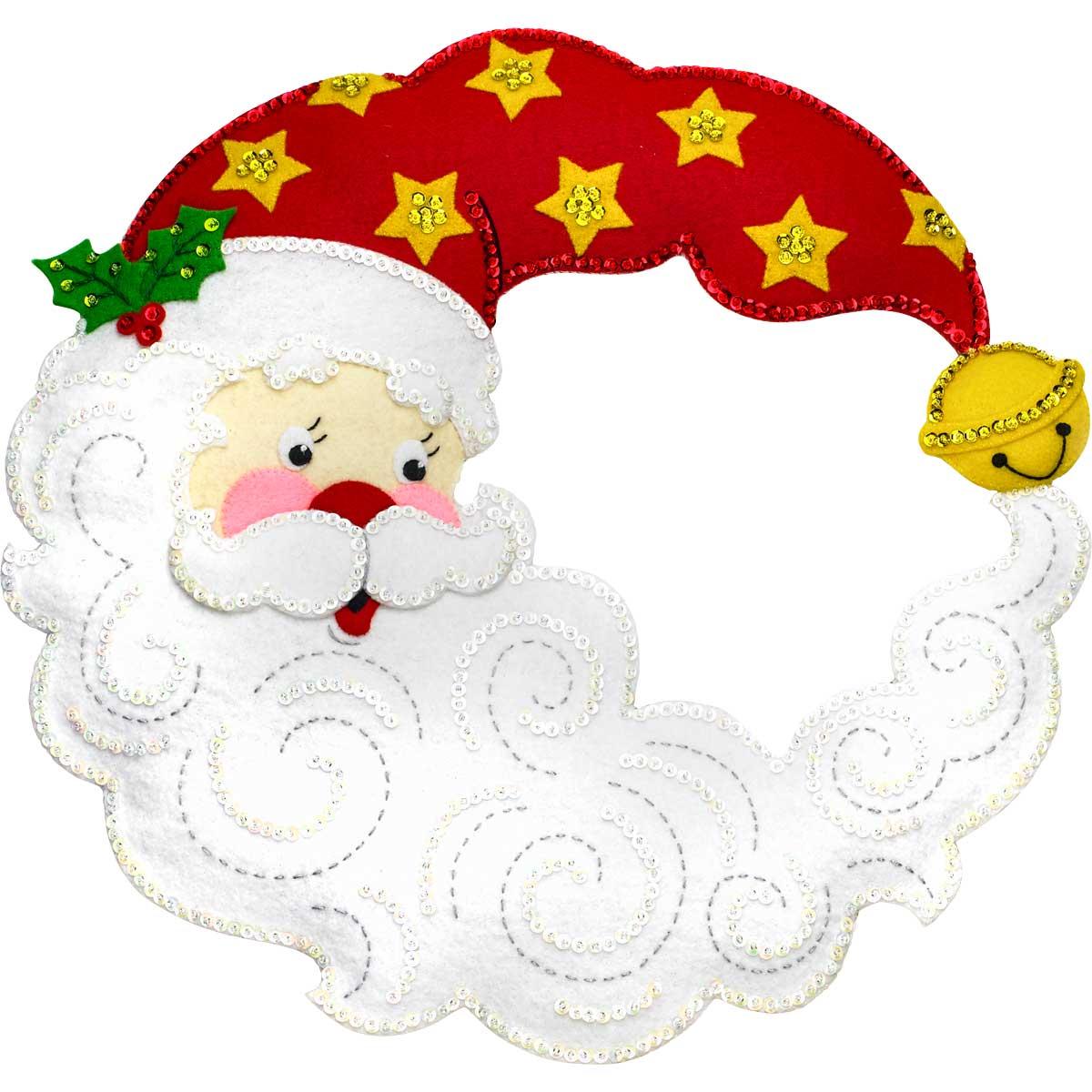 Bucilla ® Seasonal - Felt - Home Decor - Crescent Moon Santa Wreath
