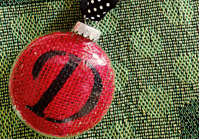 Personalized Burlap Ornament