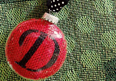 Personalized Burlap Ornament