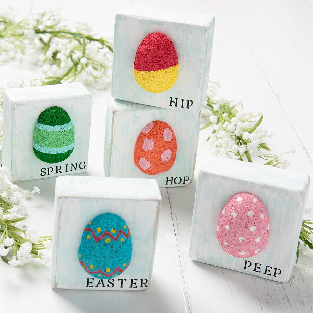 DIY Easter Decor - Easter Egg Wooden Blocks