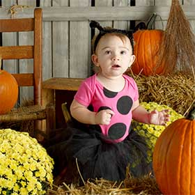 DIY Ladybug Halloween Costume for Baby