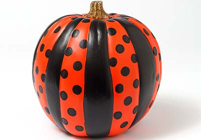 Stripes and Polka Dots Pumpkin