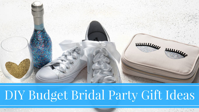 5 DIY Budget Bridal Party Glitter Gift Ideas