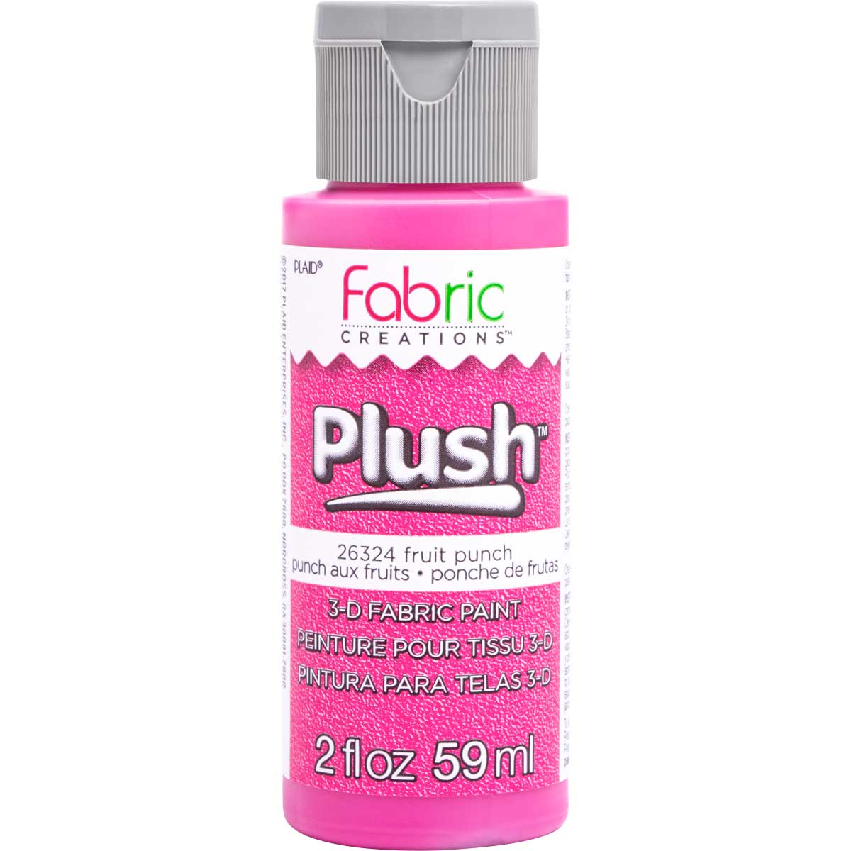 Fabric Creations™ Plush™ 3-D Fabric Paints - Fruit Punch, 2 oz. - 26324