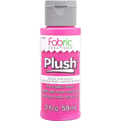 Fabric Creations™ Plush™ 3-D Fabric Paints - Fruit Punch, 2 oz.