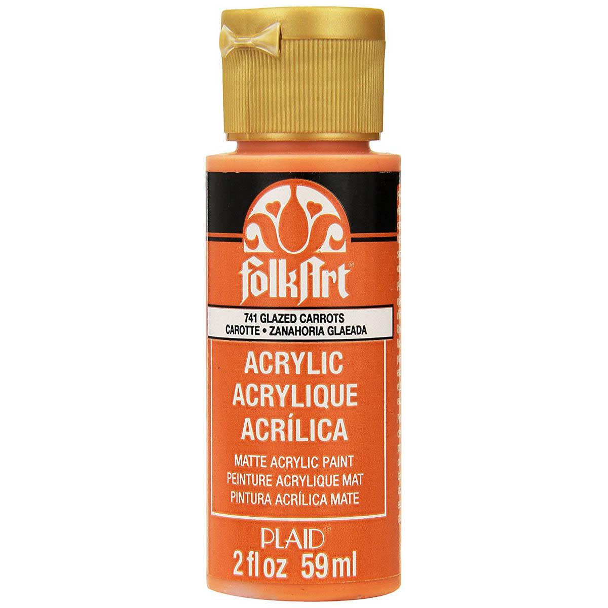 FolkArt ® Acrylic Colors - Glazed Carrots, 2 oz. - 741