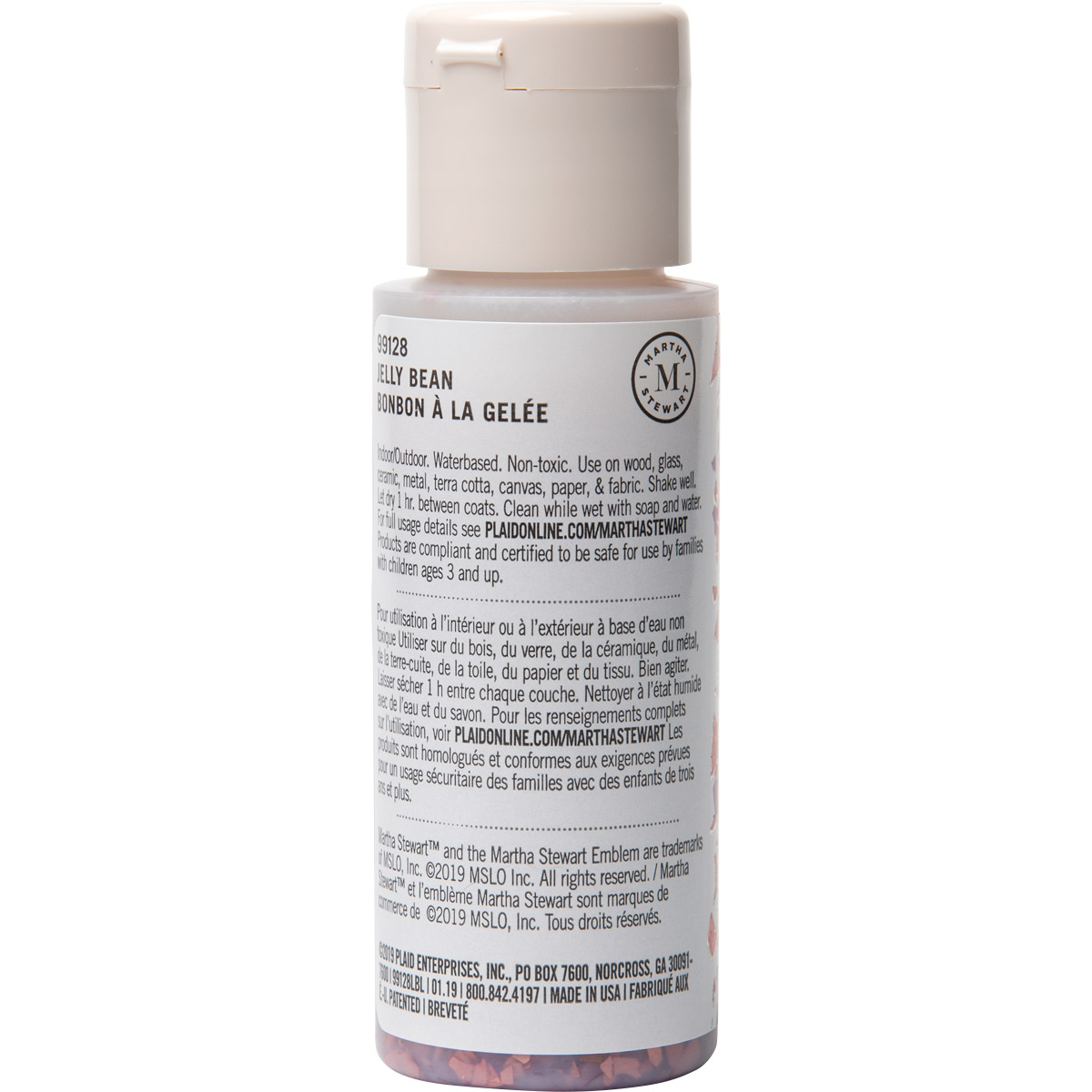 Martha Stewart ® Multi-Surface Vintage Leaf Glitter Acrylic Craft Paint CPSIA - Jellybean, 2 oz. - 9
