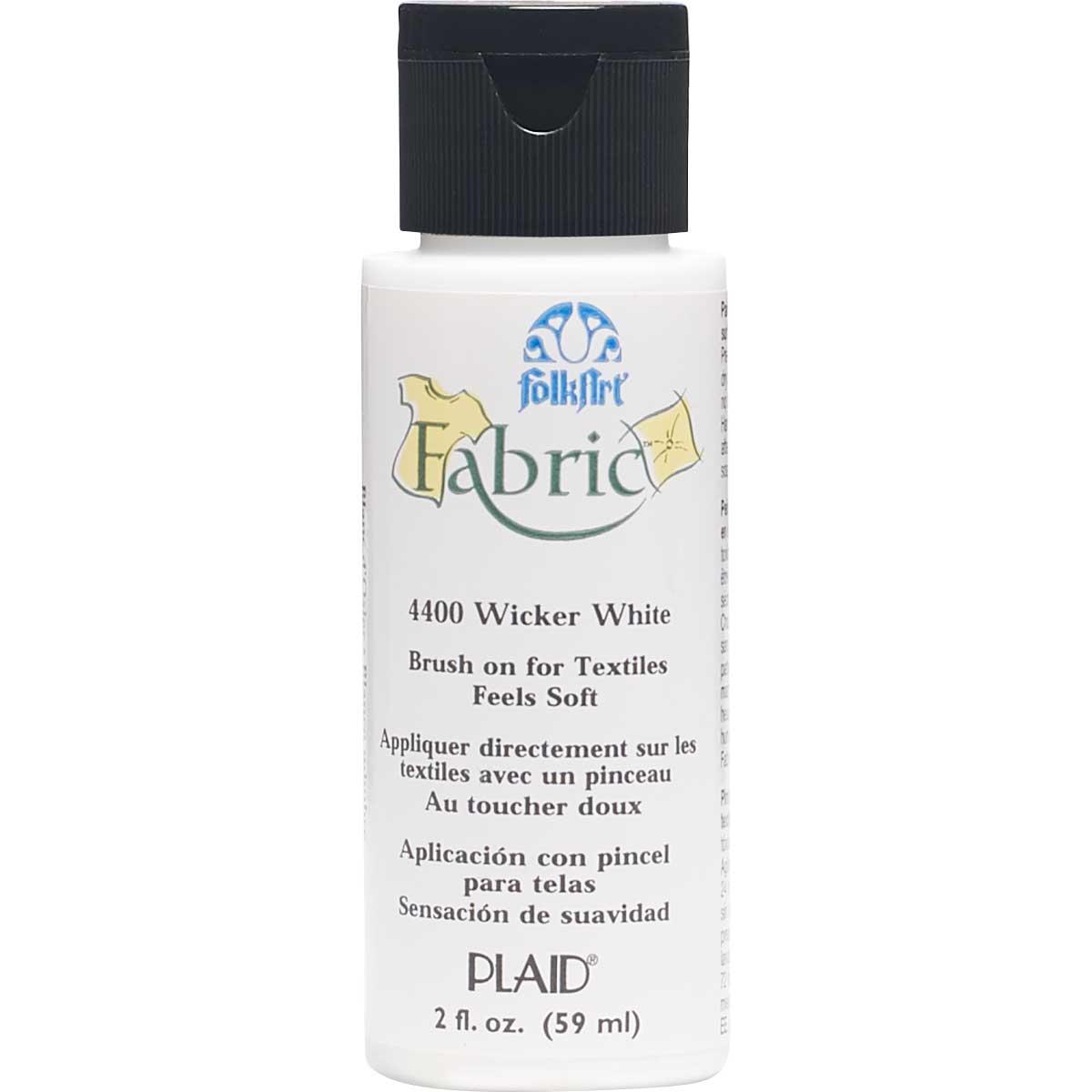 FolkArt ® Fabric™ Paint - Brush On - Wicker White