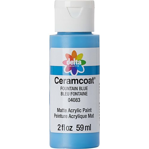 Delta Ceramcoat ® Acrylic Paint - Fountain Blue, 2 oz. - 04083