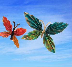 Easy Folded Paper Butterflies