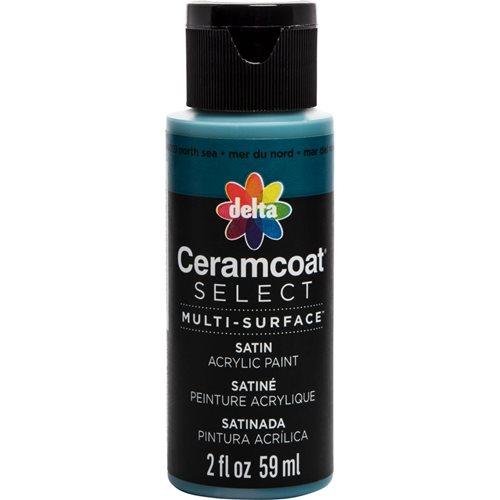 Delta Ceramcoat ® Select Multi-Surface Acrylic Paint - Satin - North Sea, 2 oz.