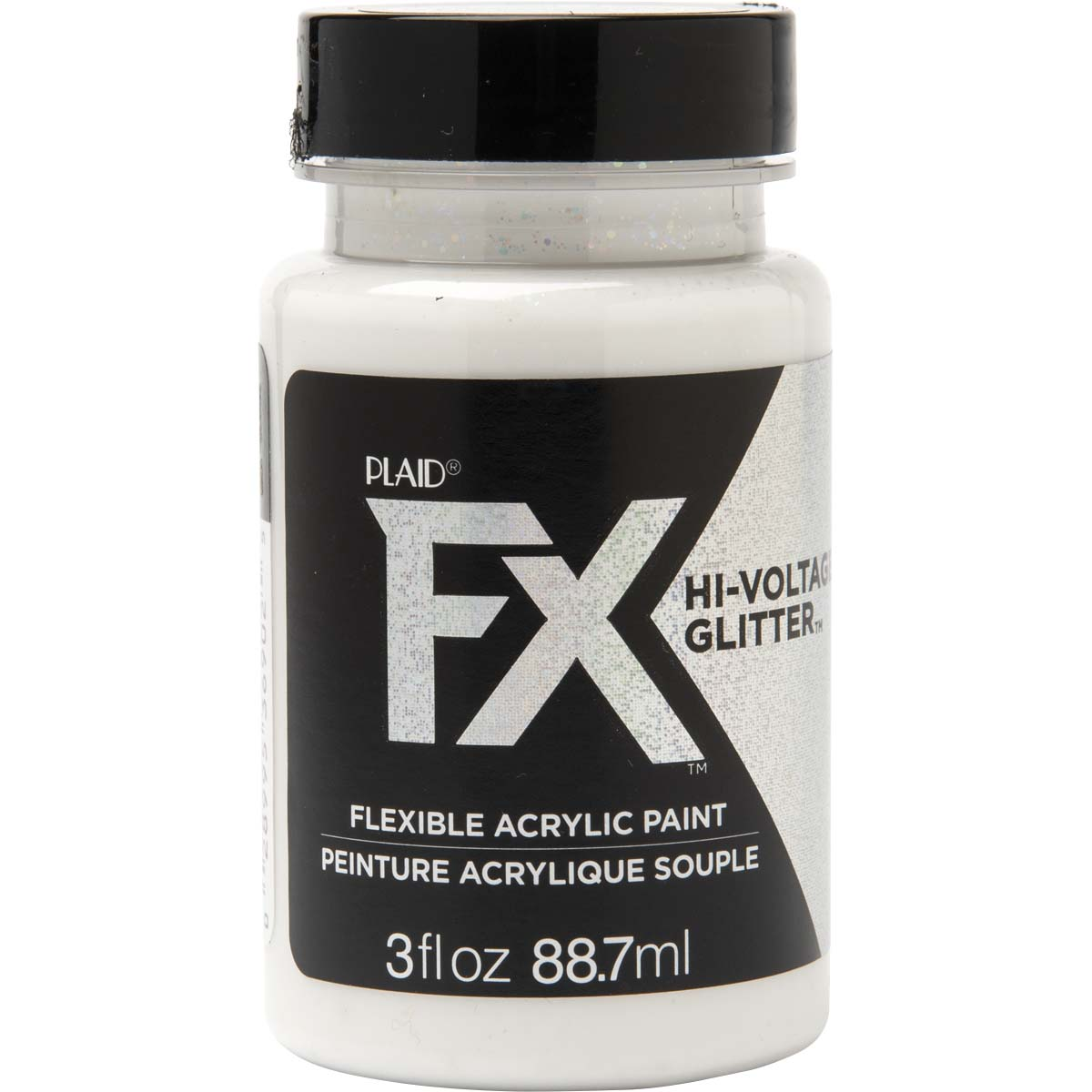 PlaidFX Hi-Voltage Glitter Flexible Acrylic Paint - Iridescent, 3 oz. - 36902