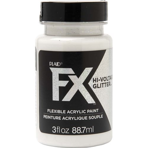 PlaidFX Hi-Voltage Glitter Flexible Acrylic Paint - Iridescent, 3 oz.