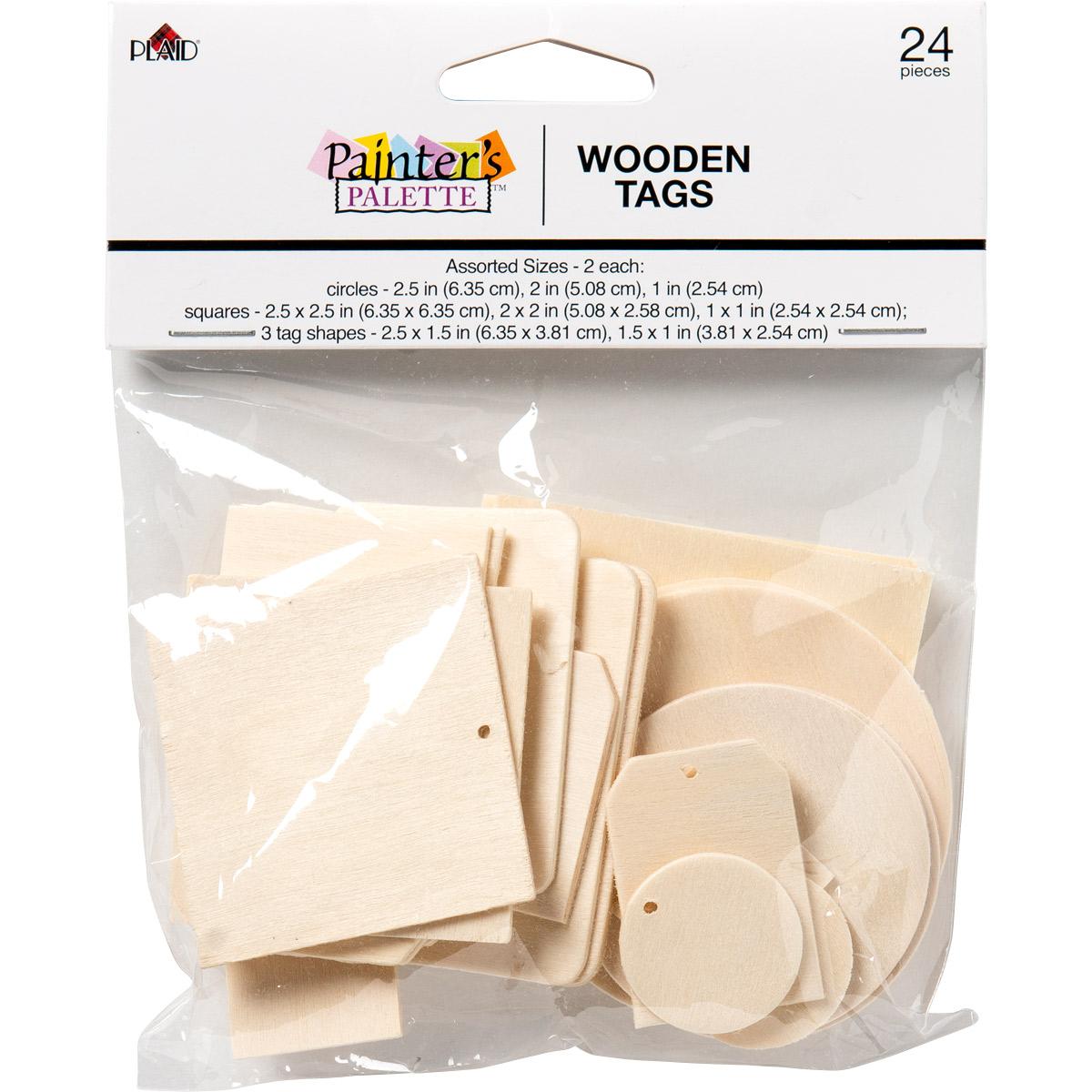 Plaid ® Painter's Palette™ Wood Tags, 24 pc.