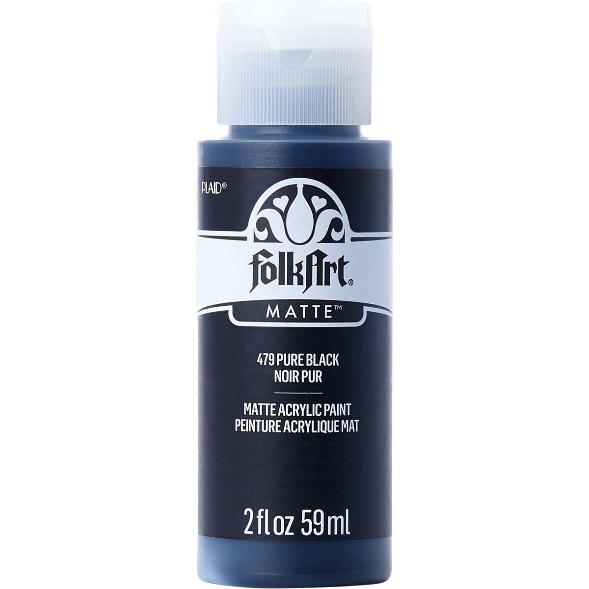FolkArt ® Acrylic Colors - Pure Black, 2 oz. - 479