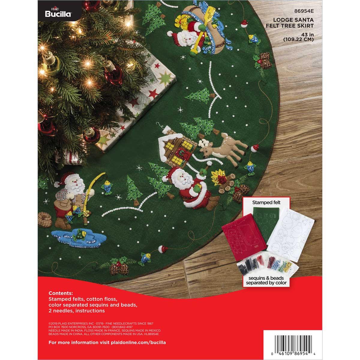 Bucilla ® Seasonal - Felt - Tree Skirt Kits - Lodge Santa - 86954E