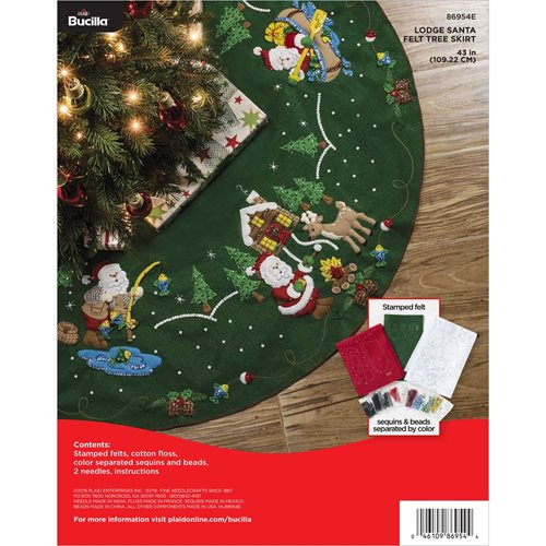 Bucilla ® Seasonal - Felt - Tree Skirt Kits - Lodge Santa - 86954E