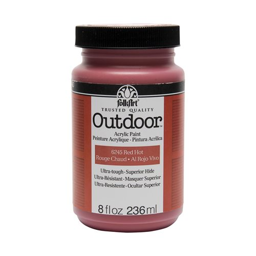 FolkArt ® Outdoor™ Acrylic Colors - Red Hot, 8 oz.