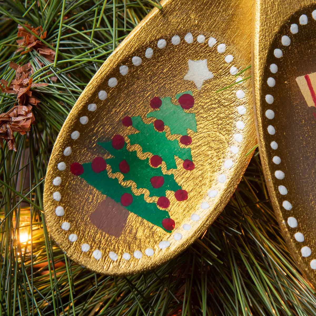 Wooden Spoon Ornaments