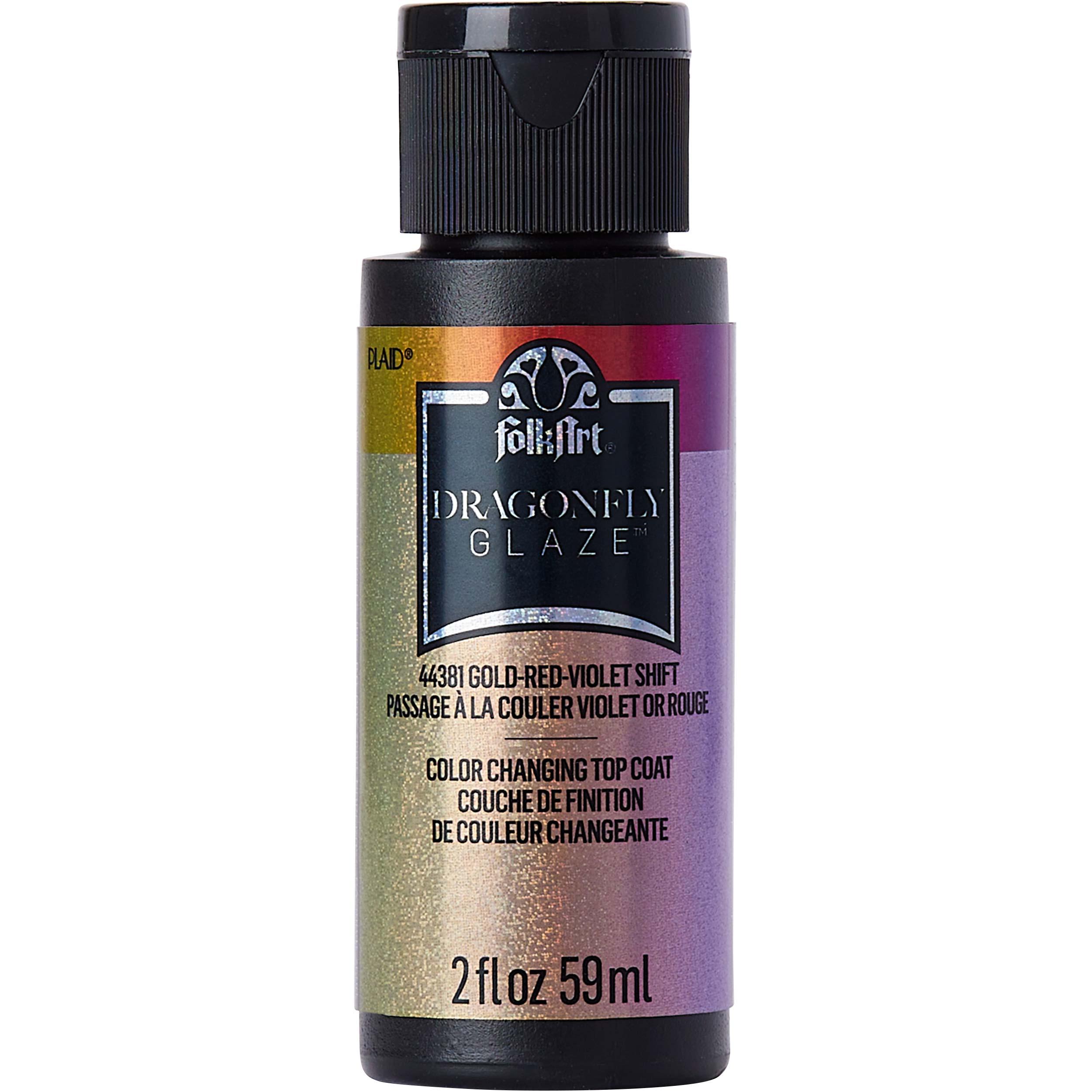 FolkArt ® Dragonfly Glaze™ - Gold-Red-Violet, 2 oz.