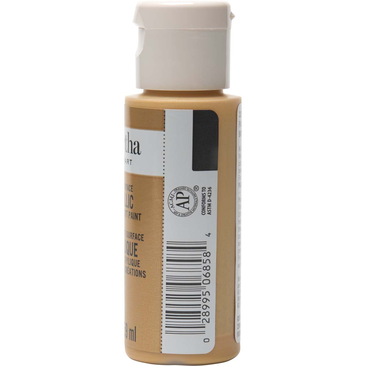 Martha Stewart® 2oz Multi-Surface Metallic Acrylic Craft Paint - Pale Bronze