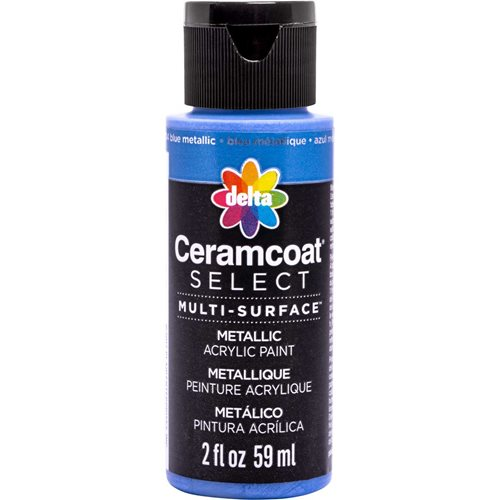 Delta Ceramcoat ® Select Multi-Surface Acrylic Paint - Metallic - Blue, 2 oz.