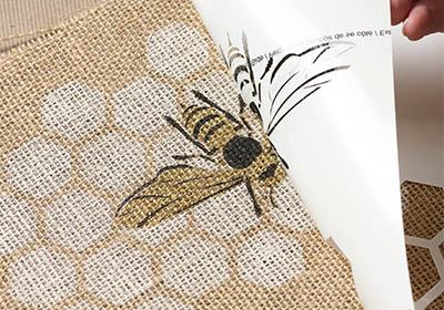 Stencil1 Honey Bee Canvas