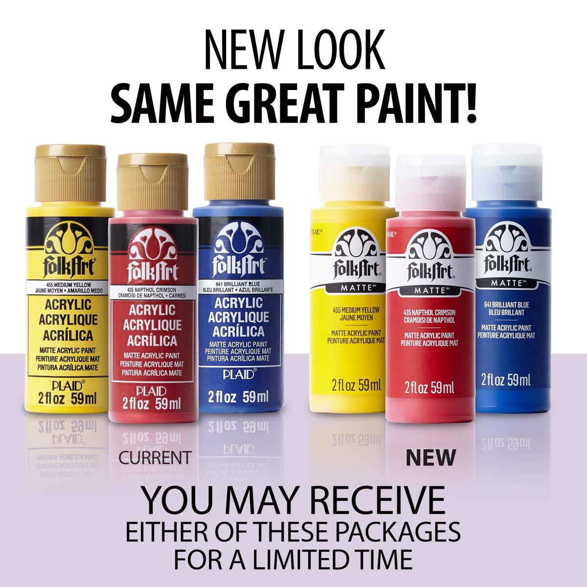 FolkArt ® Acrylic Colors - Pure Black, 2 oz. - 479