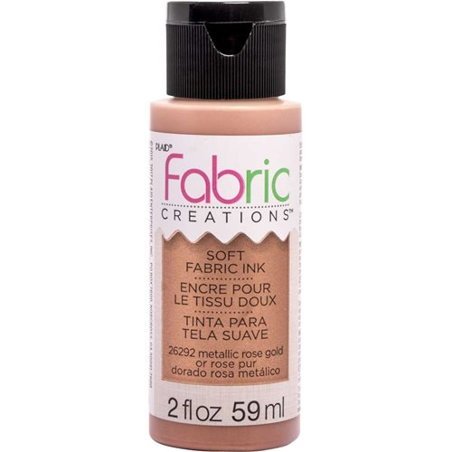 Fabric Creations™ Soft Fabric Inks - Metallic Rose Gold, 2 oz.