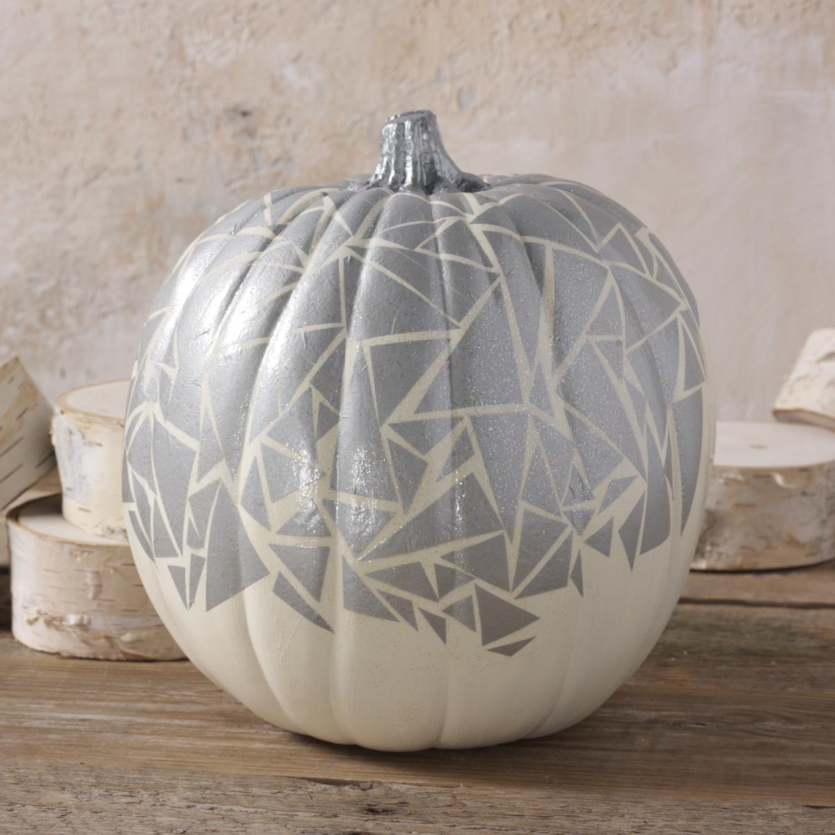 Sparkly Geometric Pumpkin