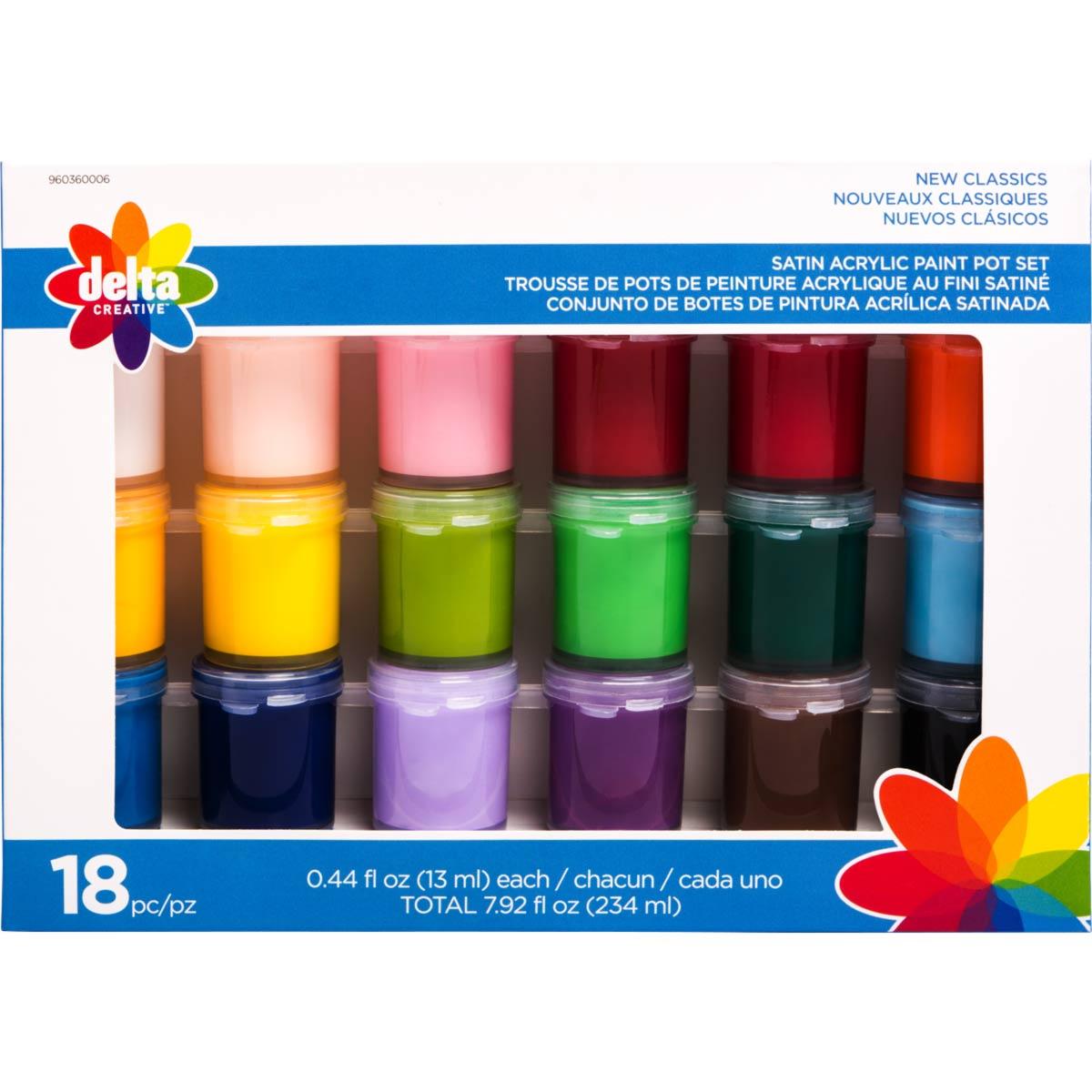 Delta Ceramcoat ® Paint Sets - New Classics, 18 Colors - 960360006