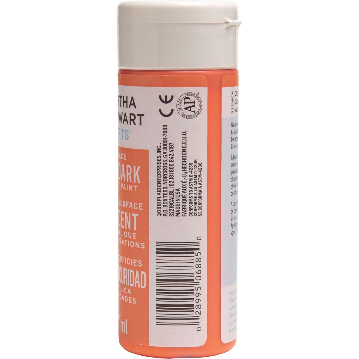 Martha Stewart ® Multi-Surface Glow-in-the-Dark Acrylic Craft Paint - Orange, 6 oz. - 32219CA