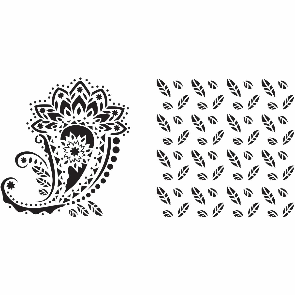 Fabric Creations™ Adhesive Stencils - Paisley, 6