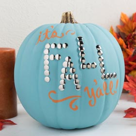 Pumpkin Decorating Idea for Fall