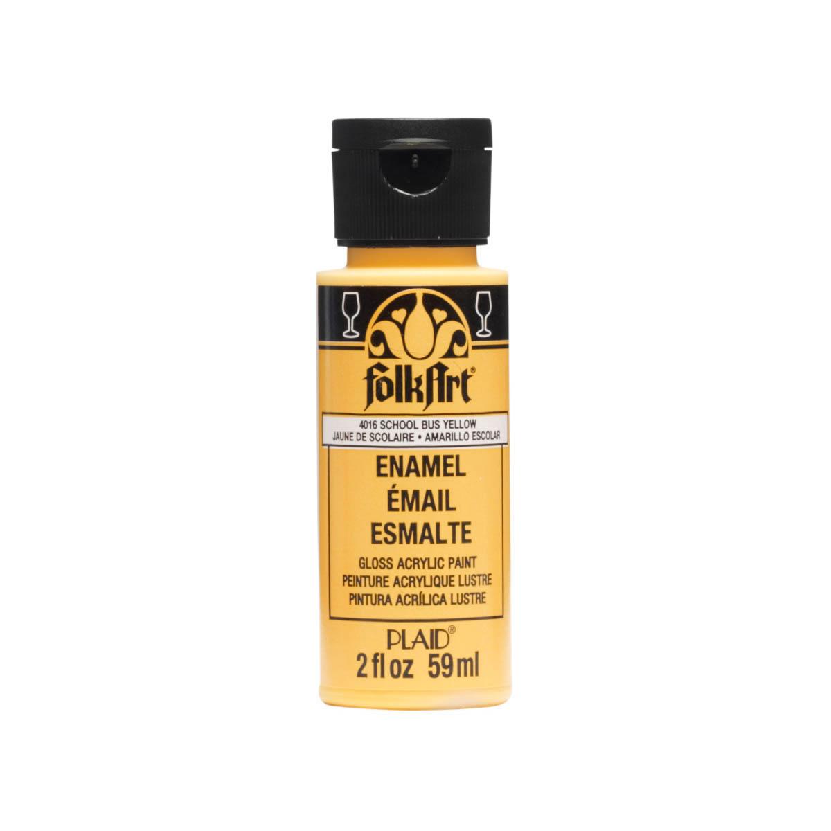 FolkArt ® Enamels™ - School Bus Yellow, 2 oz. - 4016