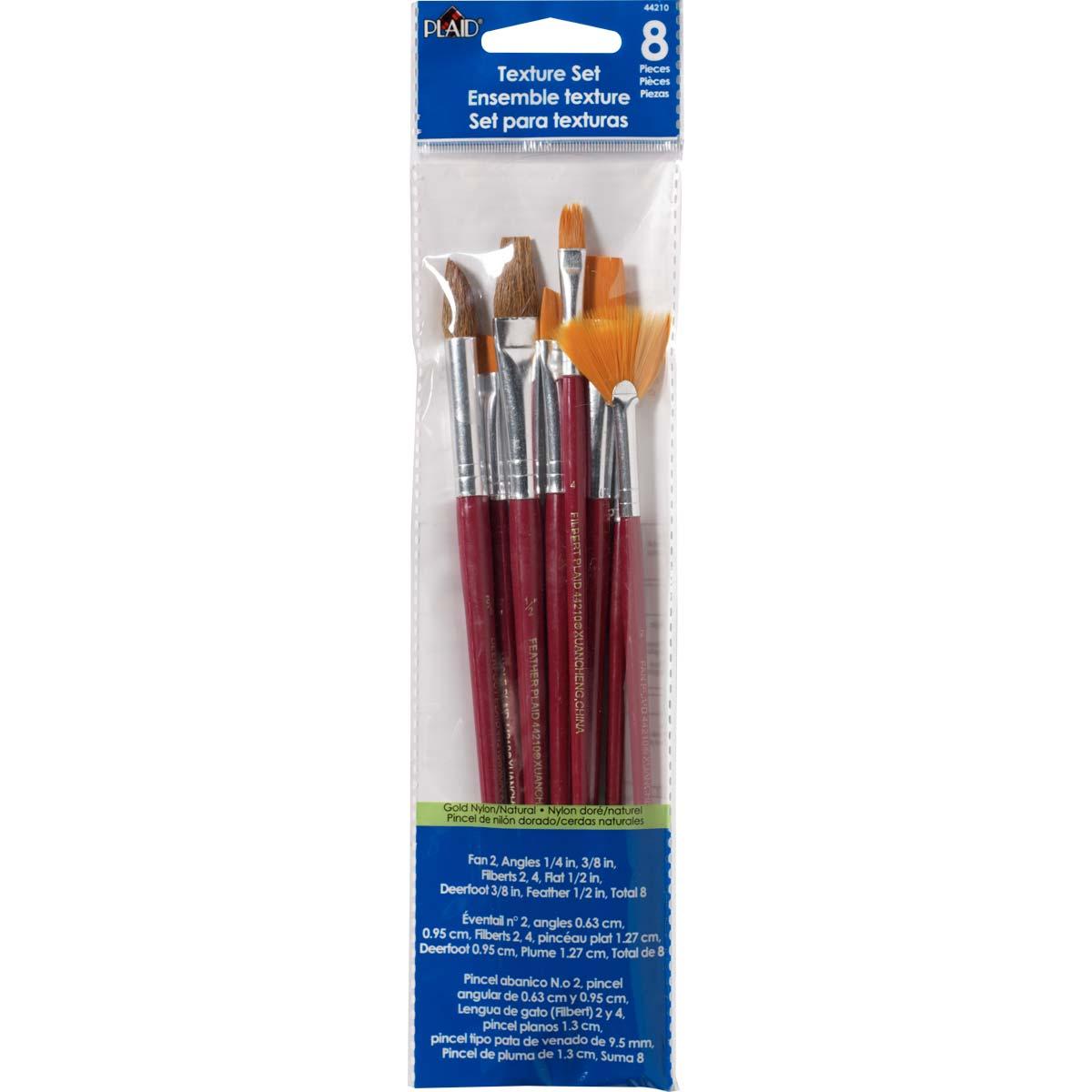 Plaid ® Brush Sets - Texture