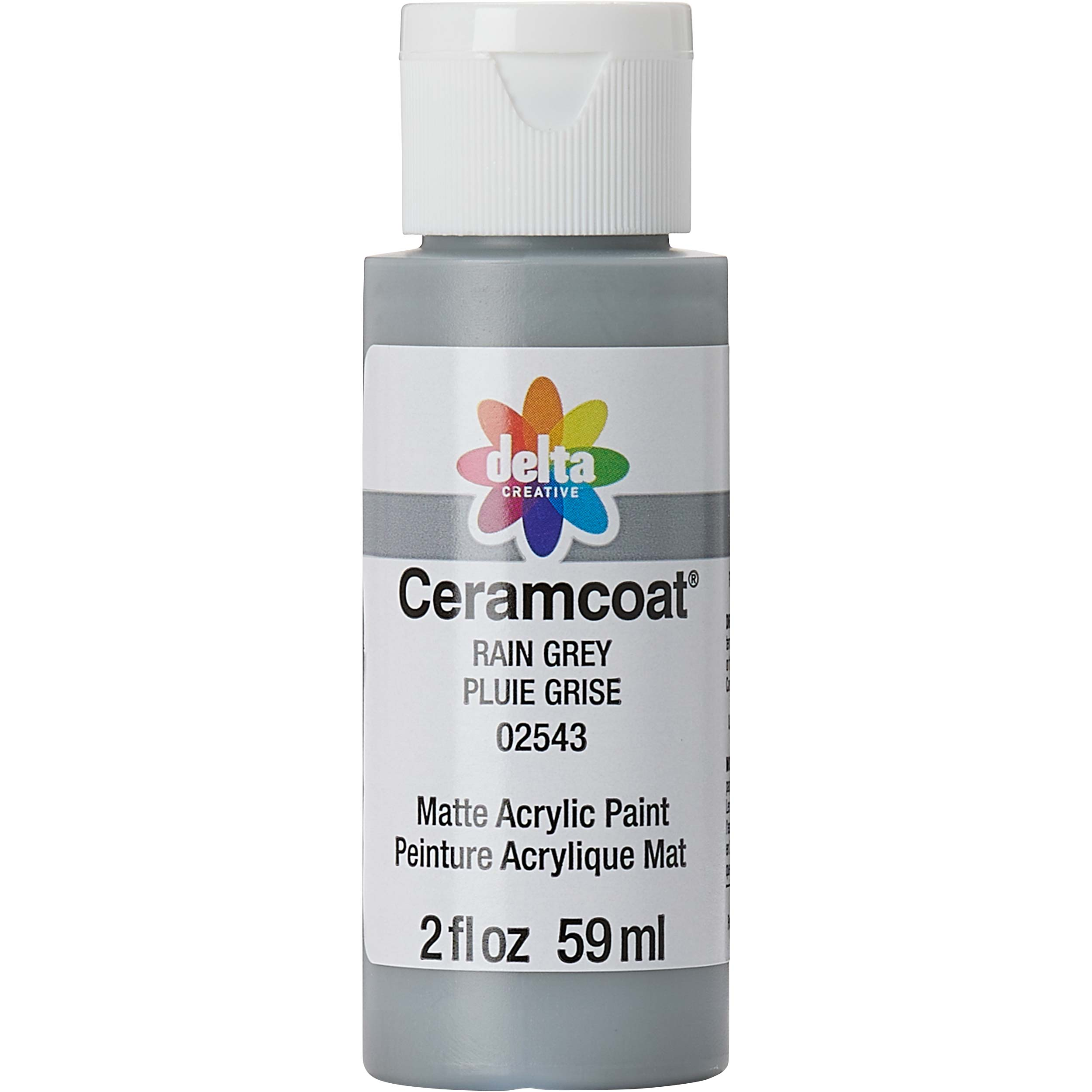 Delta Ceramcoat ® Acrylic Paint - Rain Grey, 2 oz. - 025430202W