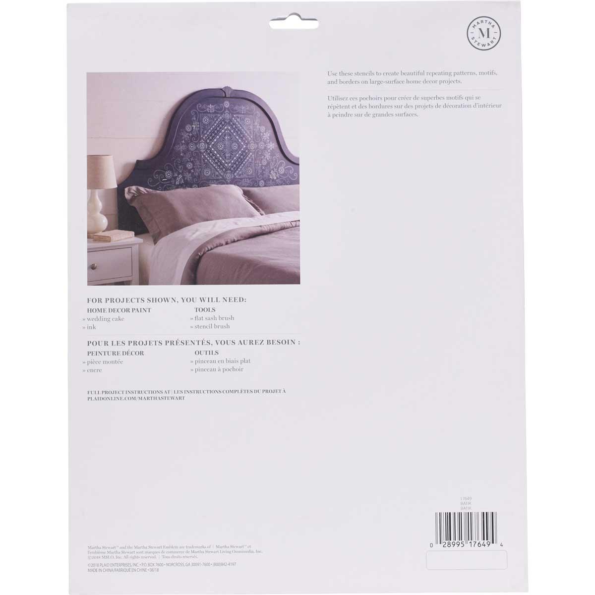 Martha Stewart ® Laser-Cut Stencil - Batik - 17649
