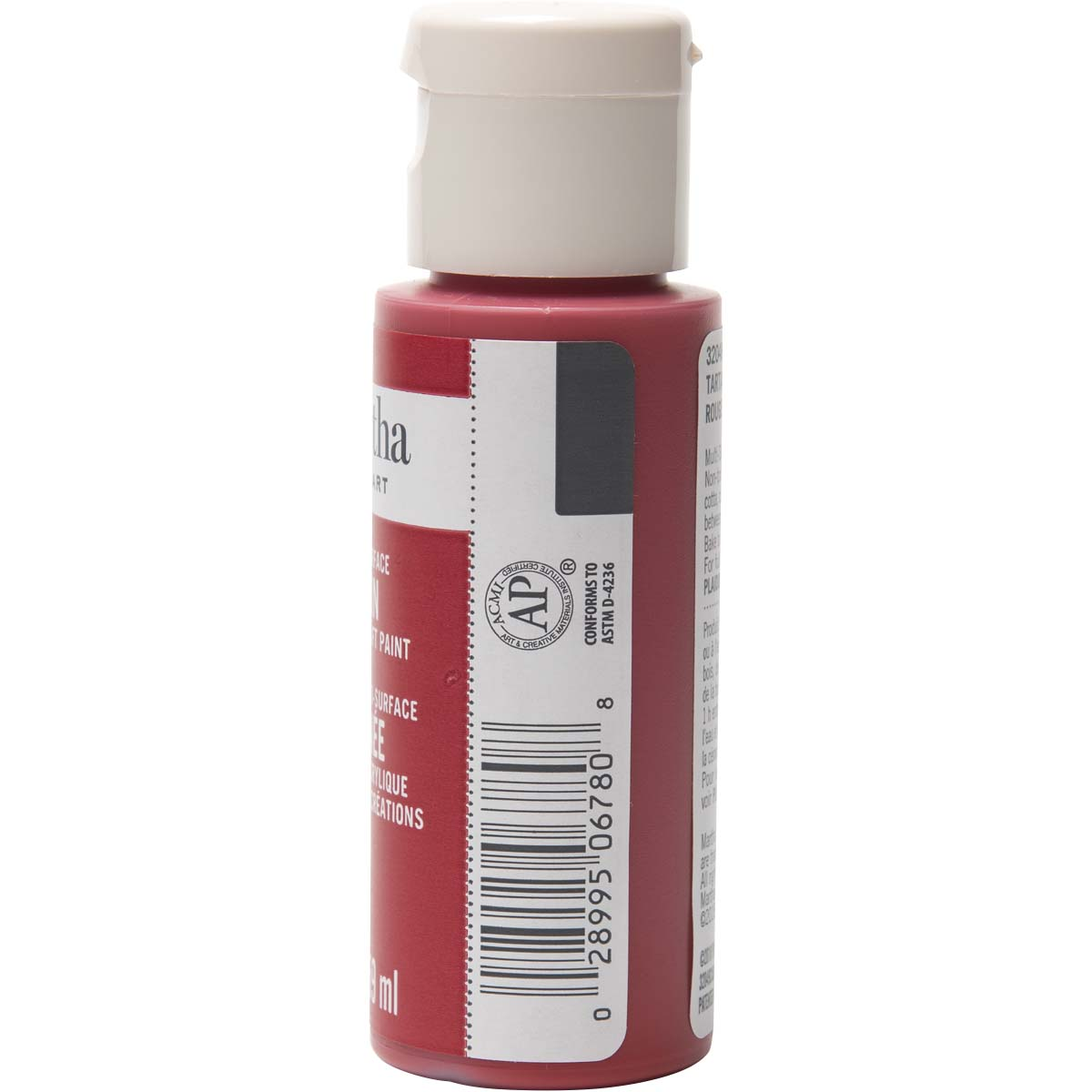 Martha Stewart ® Multi-Surface Satin Acrylic Craft Paint - Tartan Red, 2 oz. - 32049CA