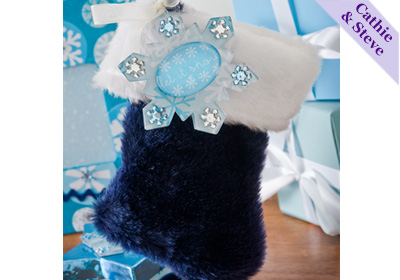 Snowflake Stocking Gift Card Holder and Ornament