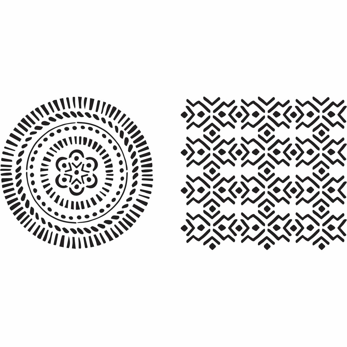 Fabric Creations™ Adhesive Stencils - Tribal, 6