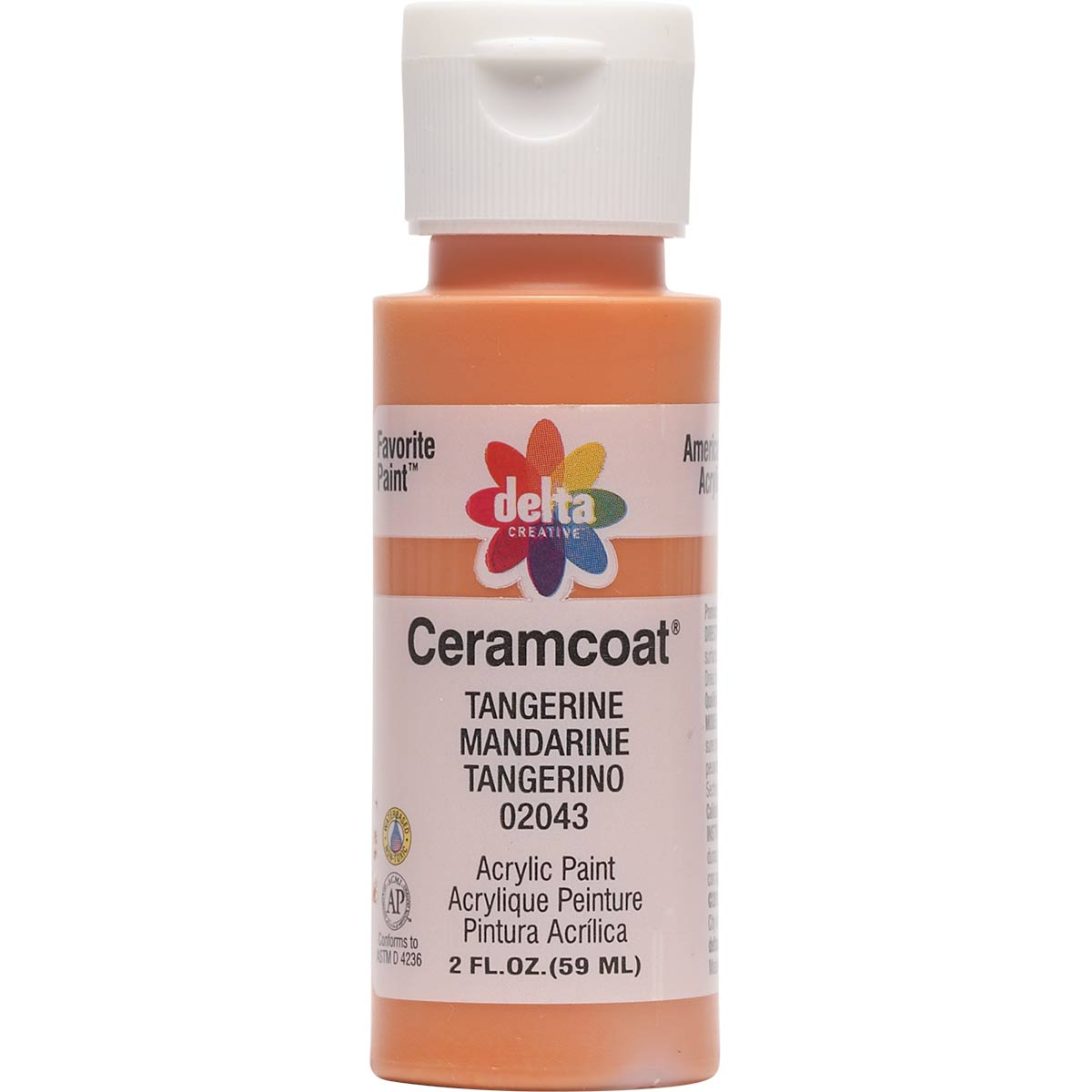 Delta Ceramcoat ® Acrylic Paint - Tangerine, 2 oz.